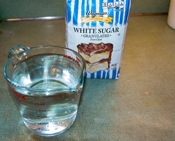 Water and Cane Sugar