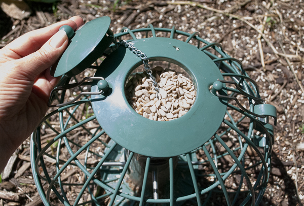 Opening the Nuttery Globe Seed Feeder