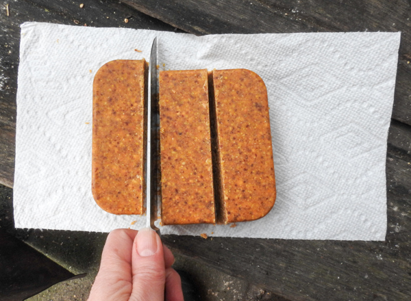 Cutting a Suet Block into Thirds