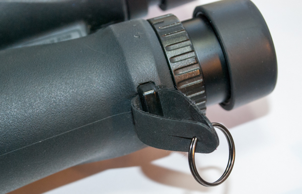 Vortex Optics Binoculars Harness Attachment Slip and Ring on Binoculars