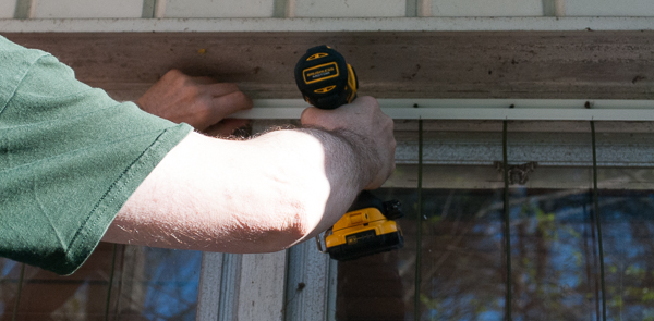 Attaching the J Channel Above the Window