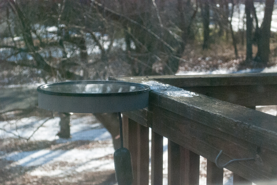 Deck Mounted Bird Bath