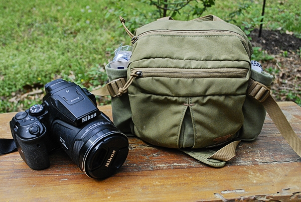 My Coolpix p900 & Mountainsmith Drift Lumbar Pack (bag used for birding)