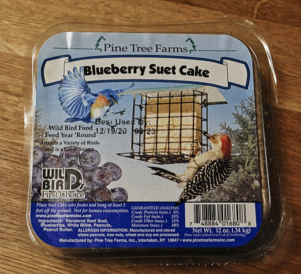 Commercial Suet With Blueberries Added